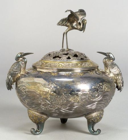 Partial Gilt-silver Incense Burner