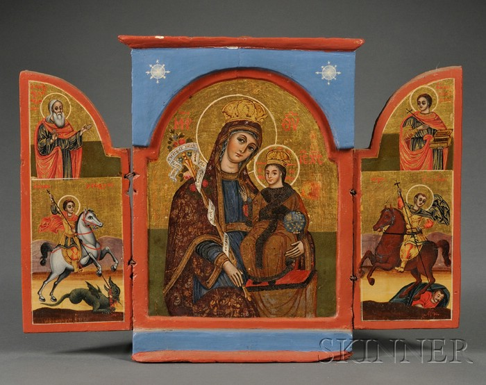 Greek Triptych Icon