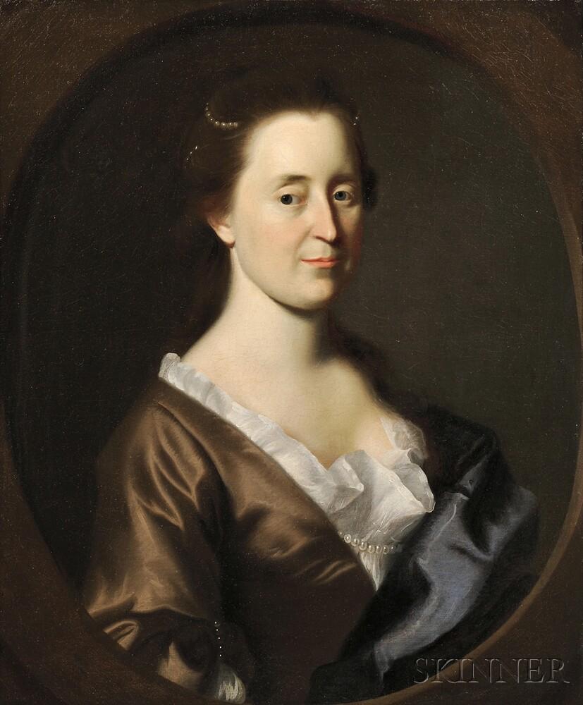 John Singleton Copley (American, 1737-1815)      Portrait of Rebecca Dudley Gerrish