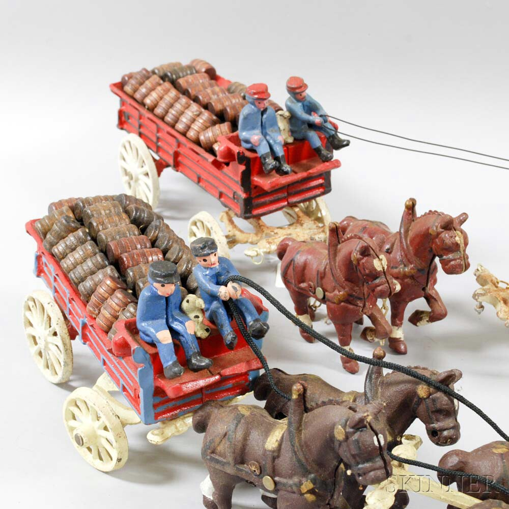 Group of Painted Cast Iron Toys