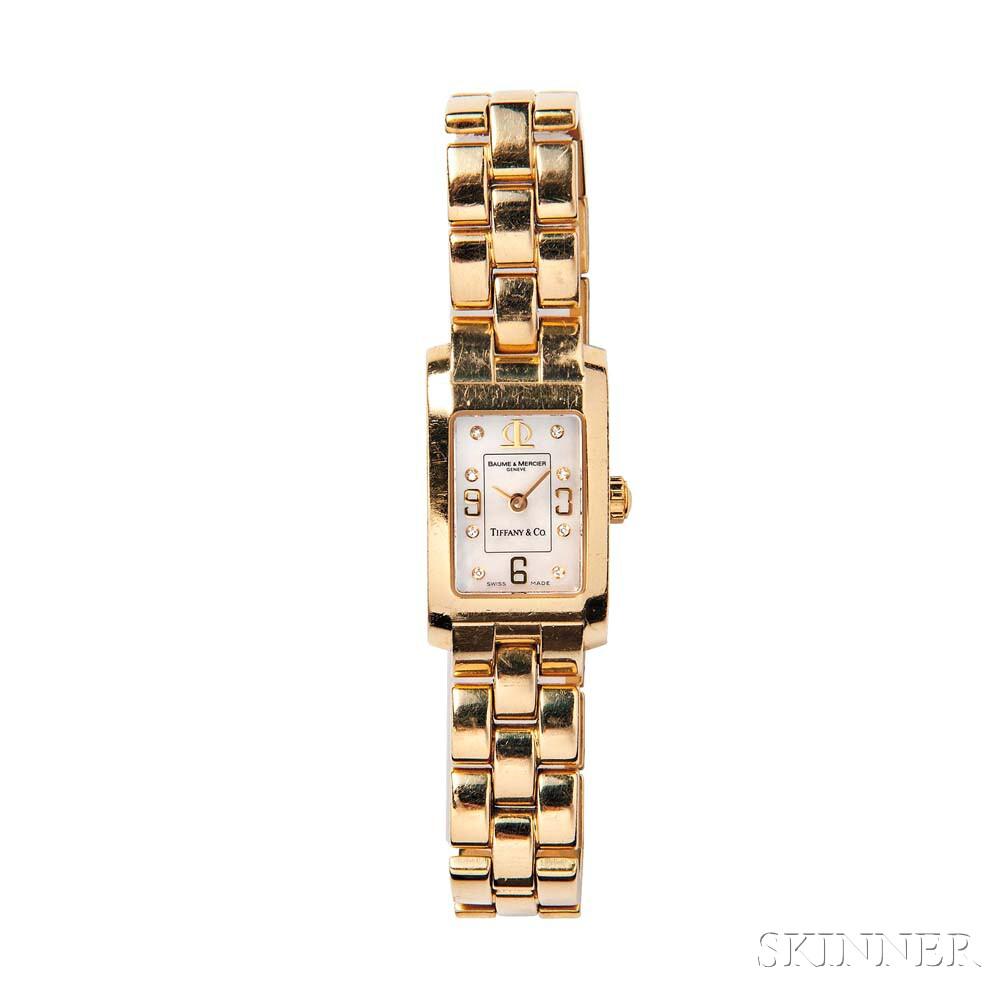 18kt Gold Wristwatch, Baume & Mercier for Tiffany & Co.
