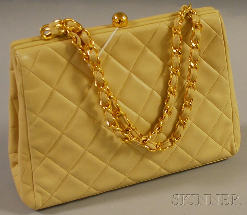 Chanel Cream-colored Quilted Purse