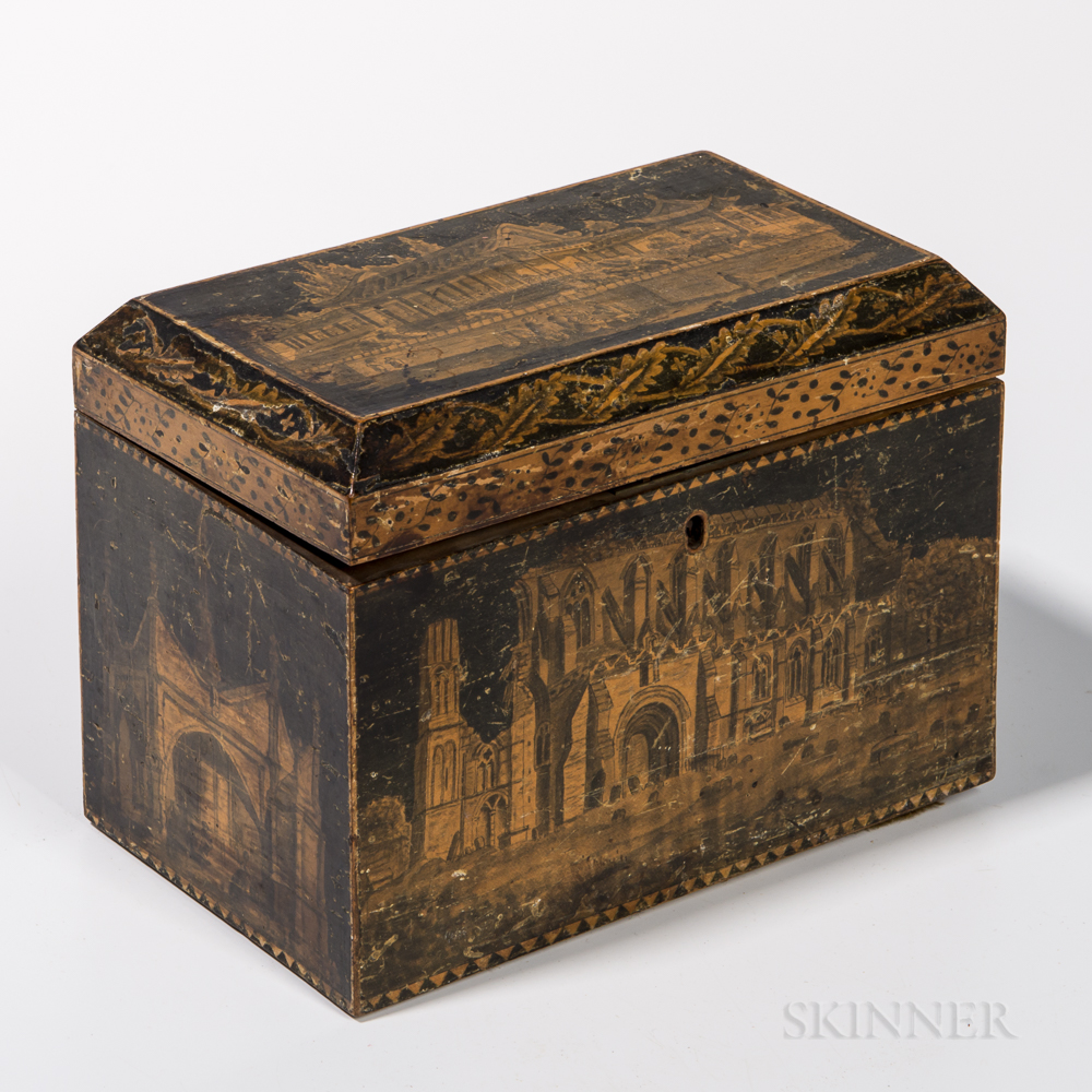 Penwork Tea Caddy