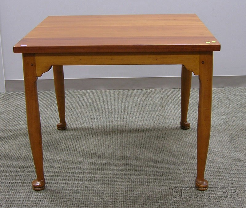 Queen Anne Style Square Cherry Card Table