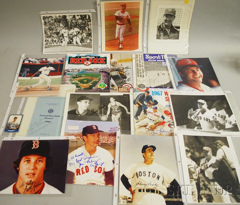 Boston Red Sox and Boston Bruins Autographs