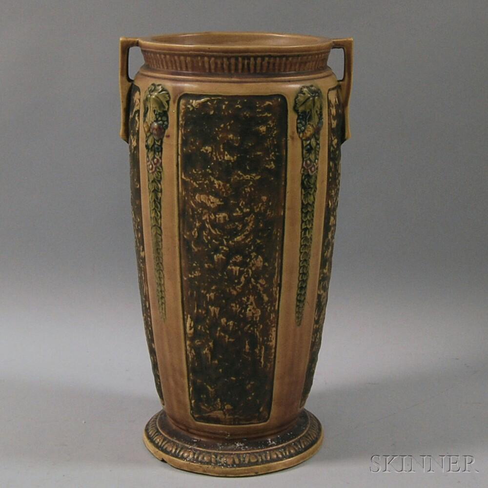 Roseville Pottery Florentine Floor Vase Umbrella Stand Sale Number 2664m Lot Number 1046 Skinner Auctioneers