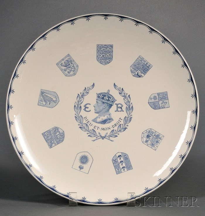 Wedgwood Queen's Ware Keith Murray Designed Commemorative Dish