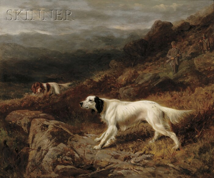 Richard Ansdell (British, 1815-1885)      Setters at Work