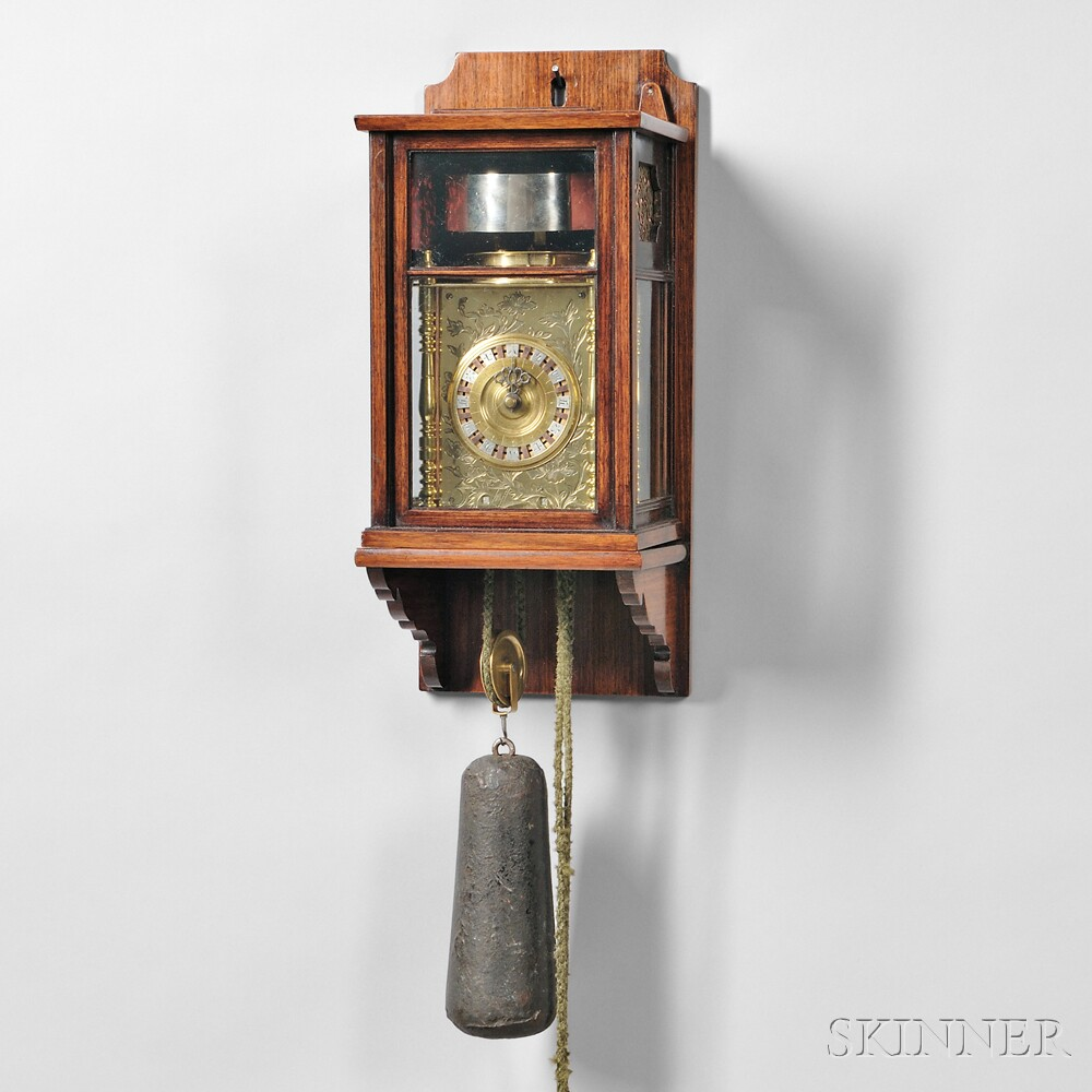 Japanese Eight-day Lantern Clock and Wall Bracket