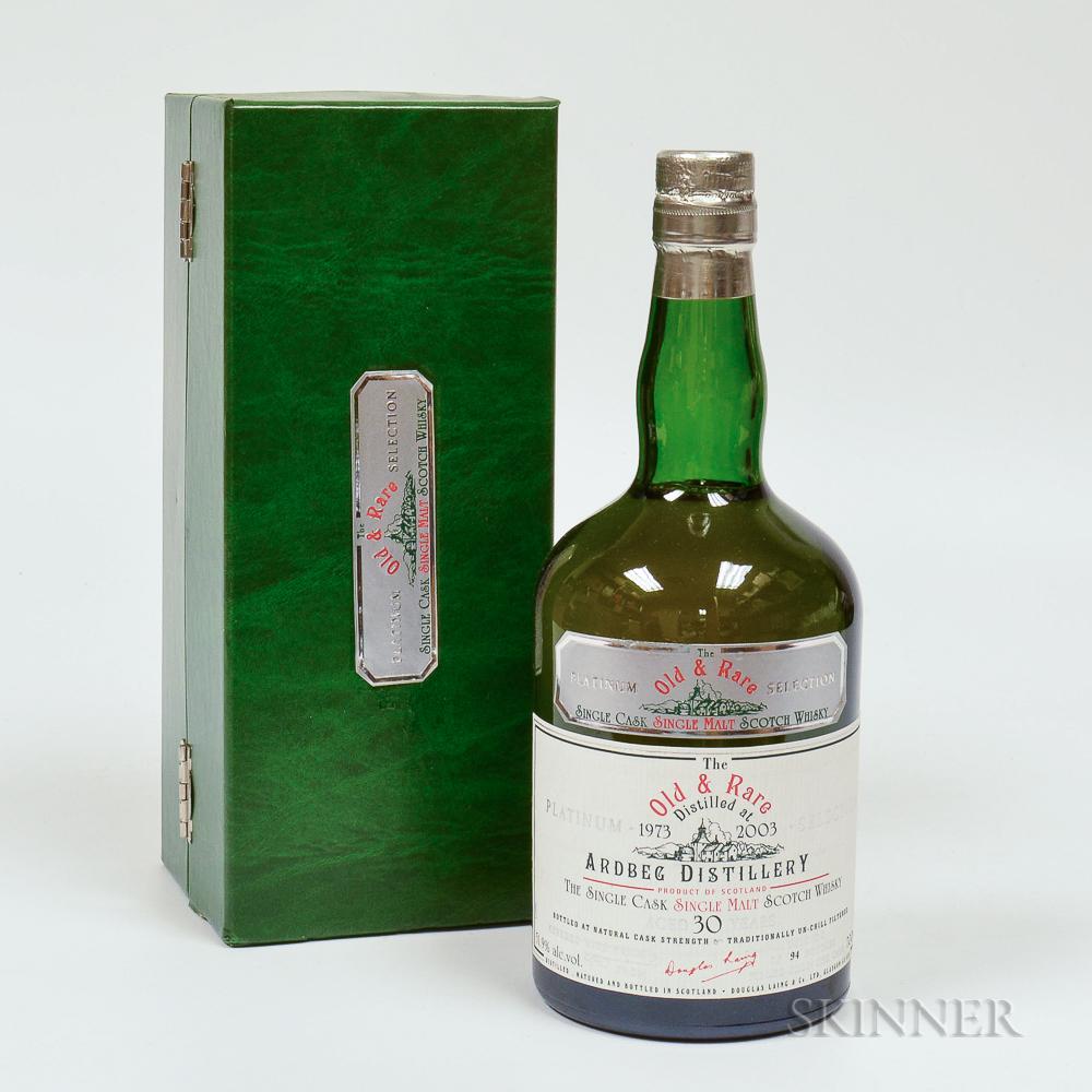 Ardbeg 30 Years Old 1973, 1 70cl bottle (oc)