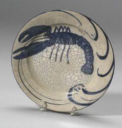 Dedham Pottery Lobster Plate