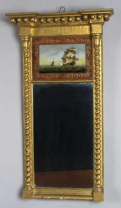 Federal Gilt Gesso Looking Glass