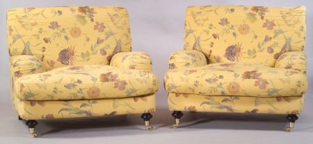 Pair of Contemporary Roche Bobois Club Chairs