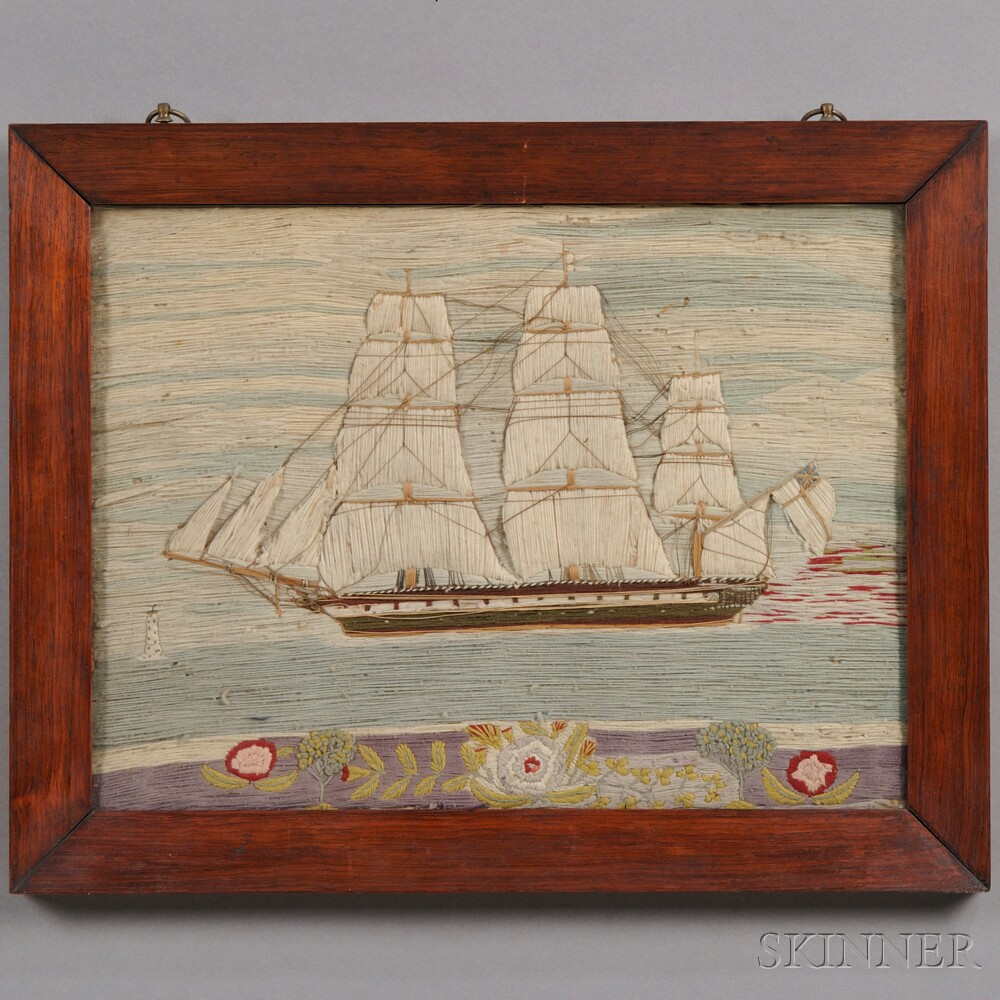 "Sailor's Woolwork ""Wooly"" Ship Picture"