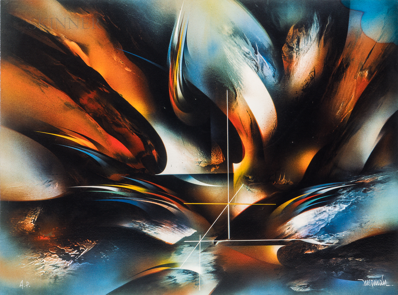 Leonardo M. Nierman (Mexican, b. 1932)      Untitled Abstract.