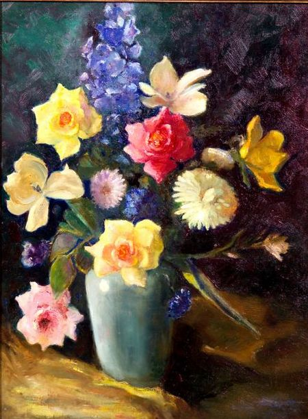 Attributed to Marguerite Stuber Pearson (American, 1898-1978)    Floral Still Life