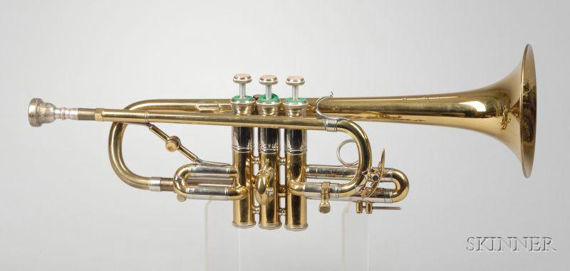 american trumpet vincent bach corporation new york sale number 2380 lot number 311. Black Bedroom Furniture Sets. Home Design Ideas