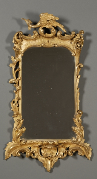 Continental Rococo Giltwood Looking Glass