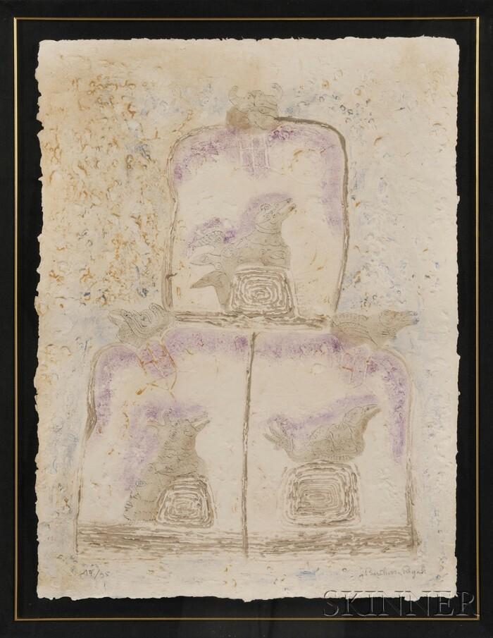 Bernard Berthois-Rigal  (French, b. 1927)      Untitled.