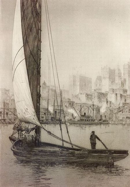 John Taylor Arms (American, 1887-1953)    The Sarah Jane, New York