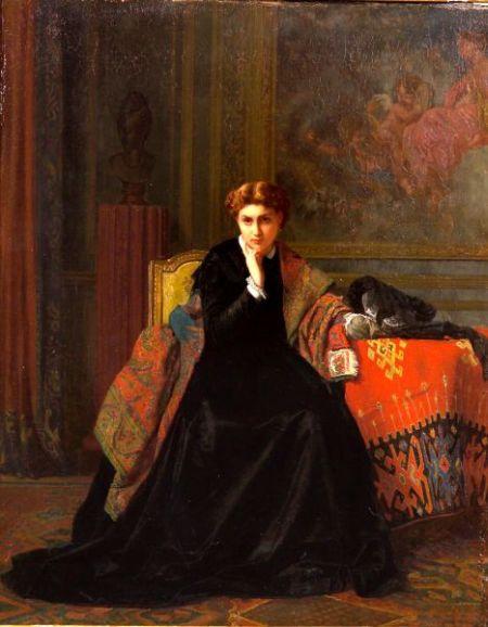 Charles Louis Baugniet (Belgian, 1814-1886)    The Reverie