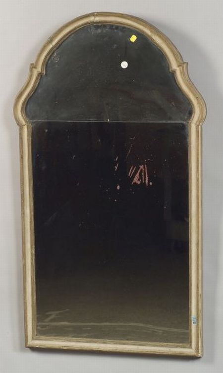Pair of Italian Rococo-style Gray Painted Mirrors