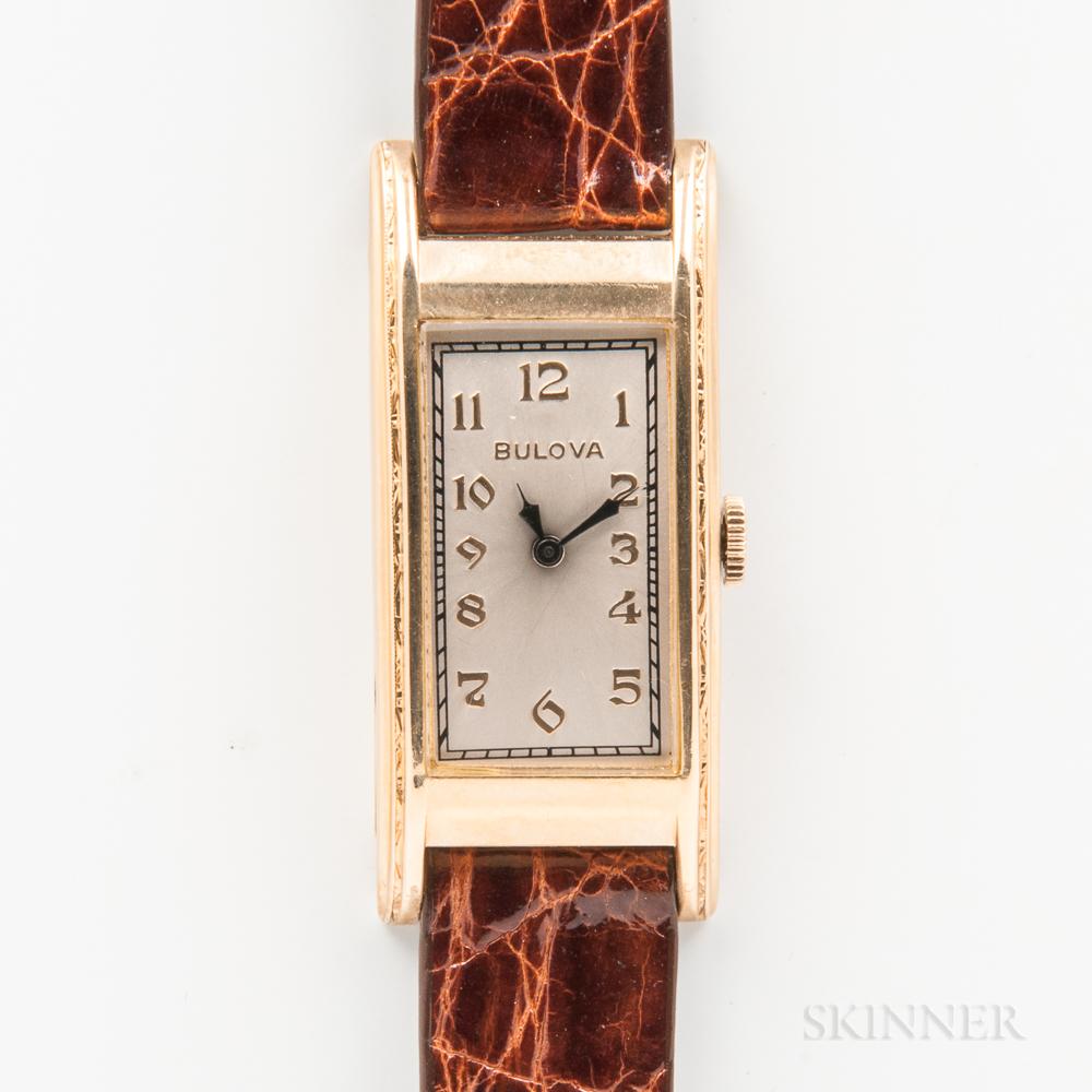 Bulova 14kt Gold Wristwatch