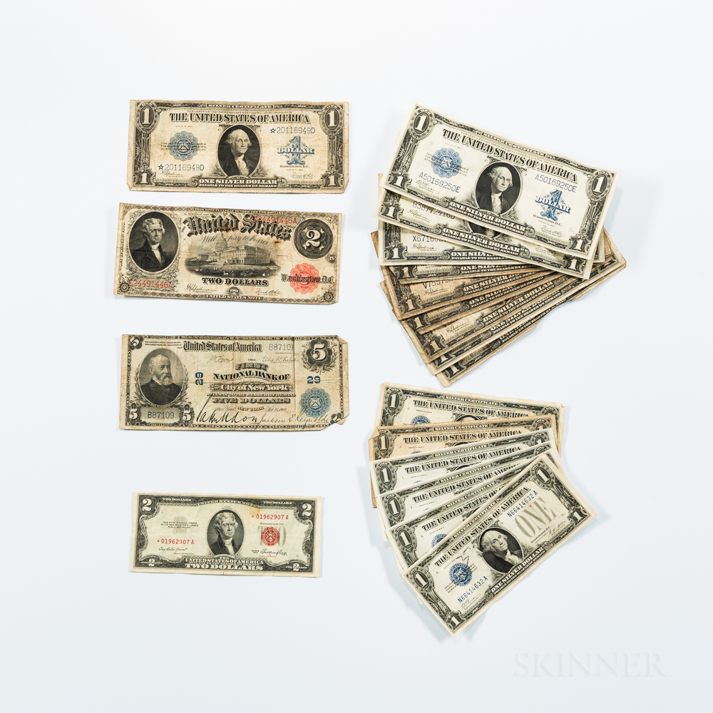 Group of American Banknotes