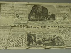Late 19th Century P.T. Barnum Promotional Fold-out Leaflet.