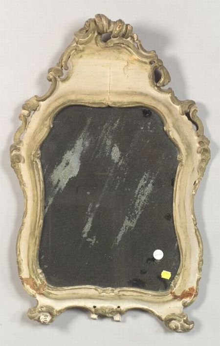 Italian Rococo-style Painted Dressing Mirror