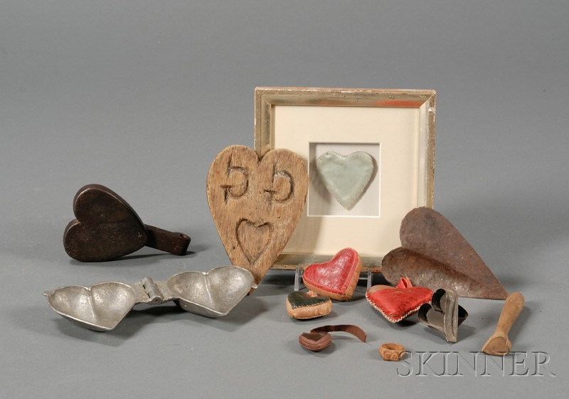 Twelve Small Heart-Themed Items
