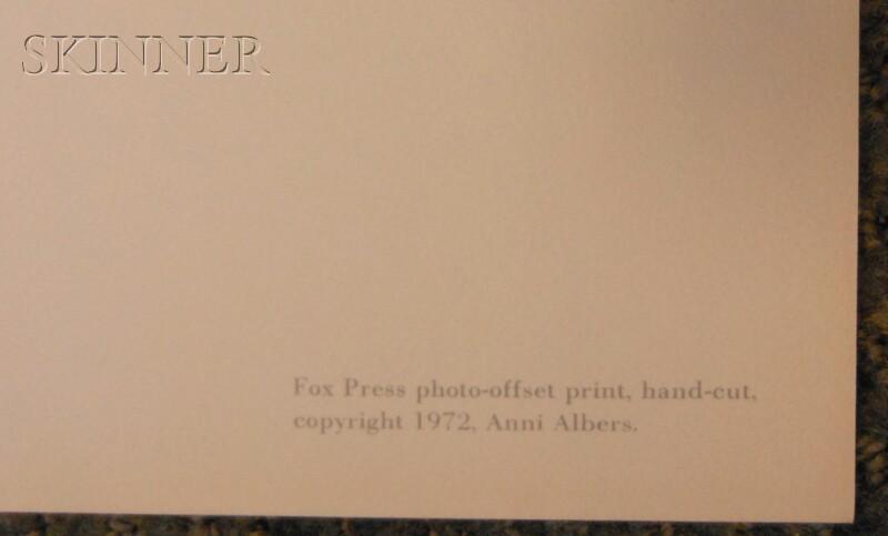 Anni Albers (German, 1899-1994)      Fox II