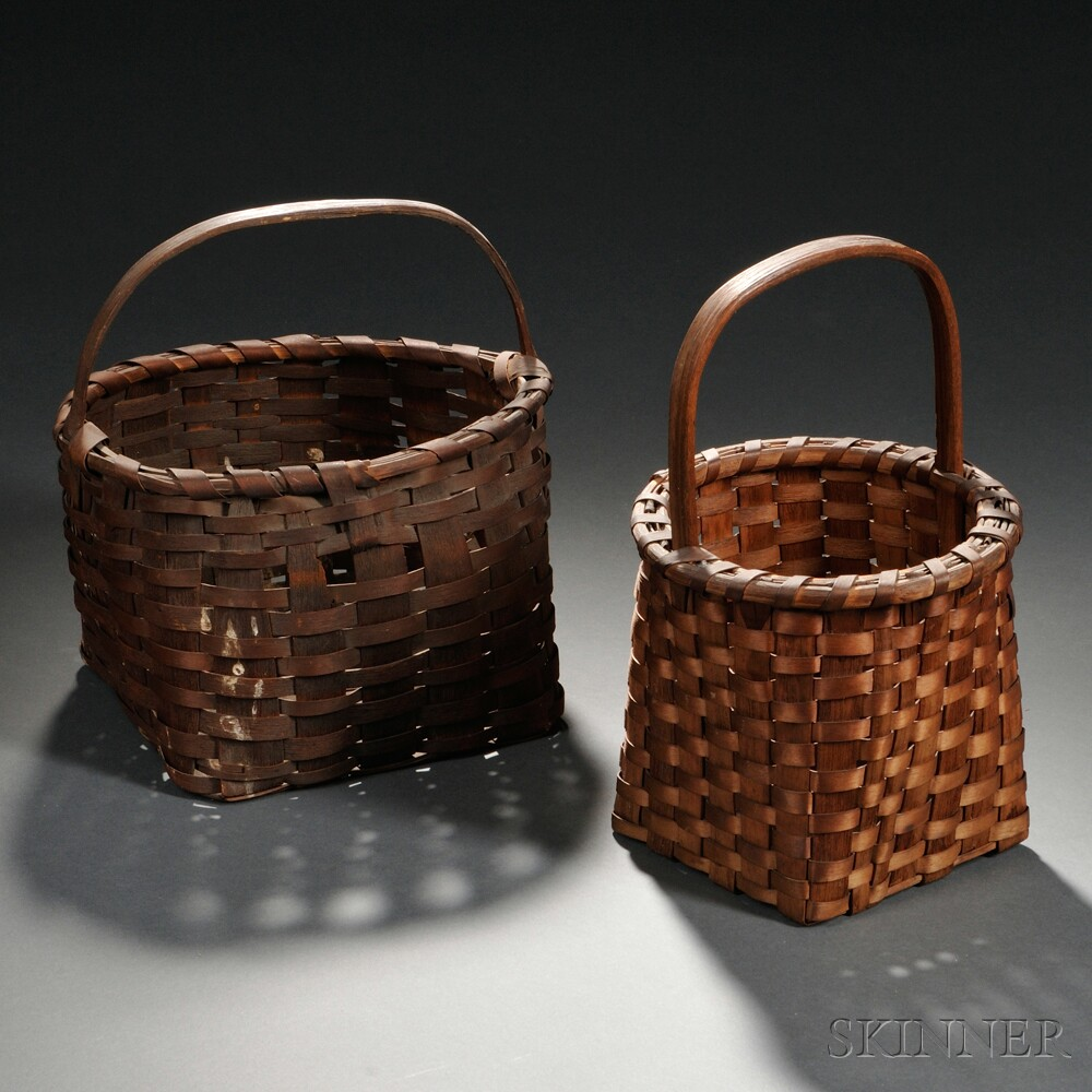 Two Handled Woven Splint Baskets