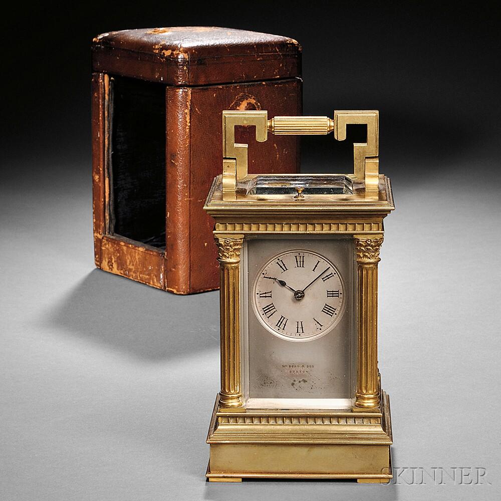 William Bond & Son Carriage Clock
