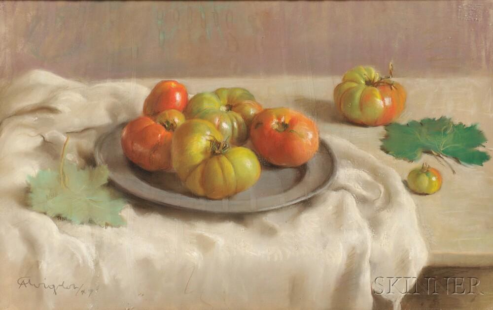Arturo Avigdor (Italian, b. 1906)      Still Life with Tomatoes