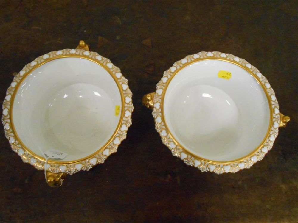 Pair of Royal Crown Derby Porcelain Urns