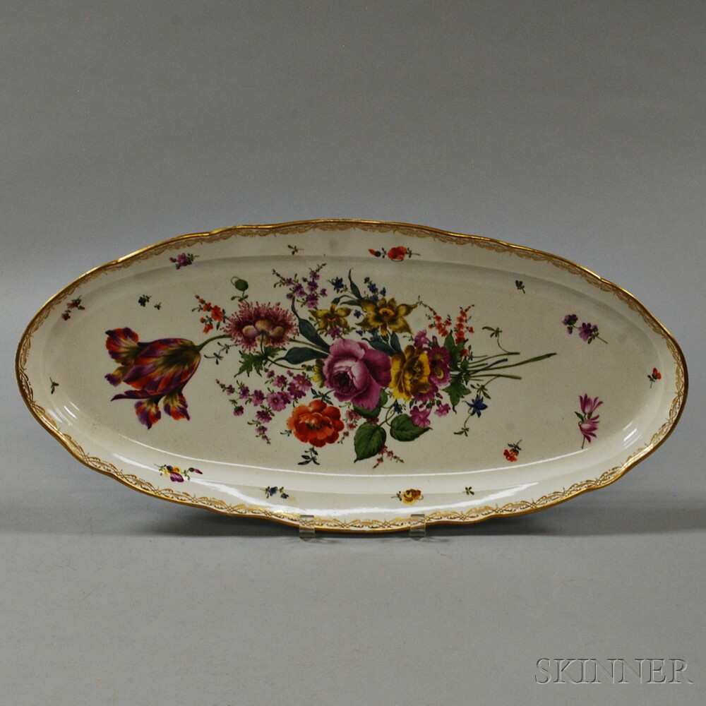 Meissen Floral-decorated Porcelain Platter