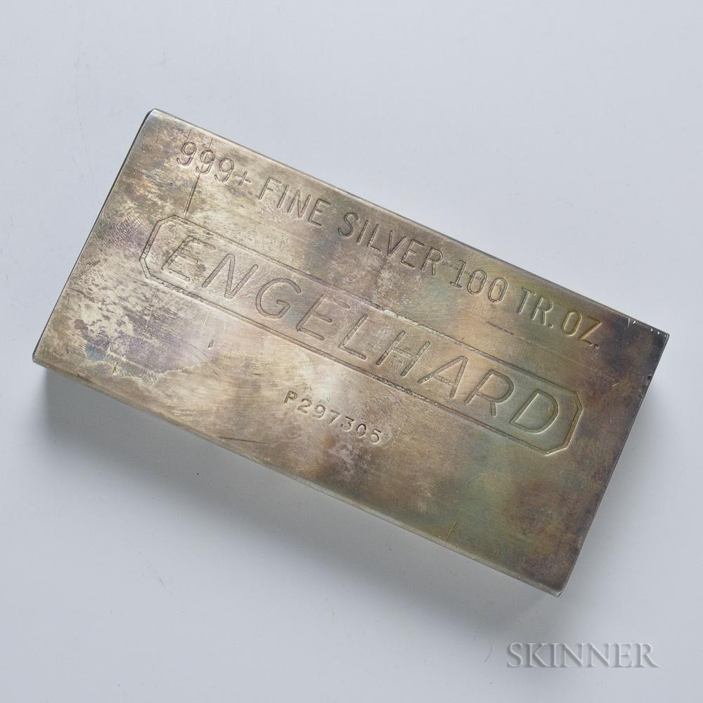 Engelhard 8th Series 100 Troy oz. Silver Bar