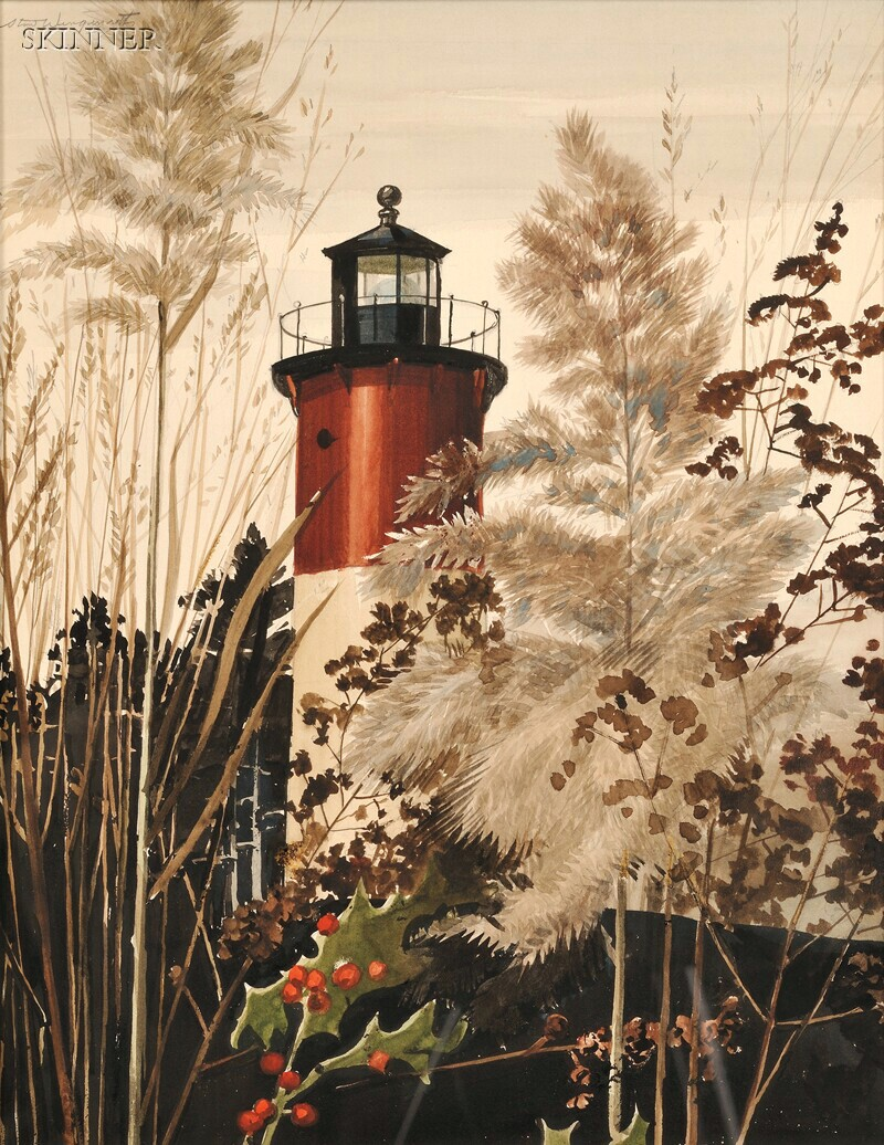 Stow Wengenroth (American, 1906-1978)      Lighthouse Tapestry