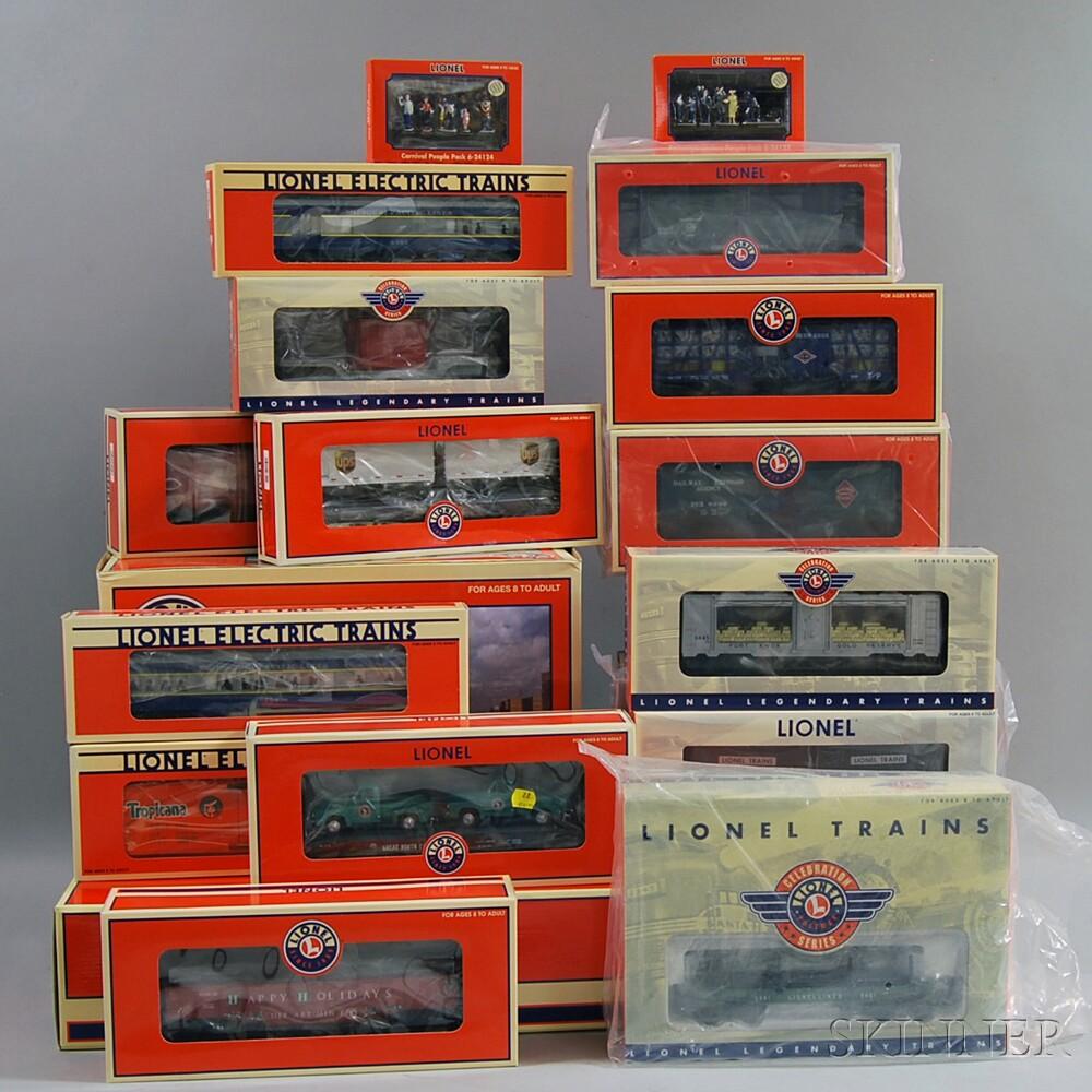 Set of Twenty-three Lionel O Gauge Model Trains and Accessories