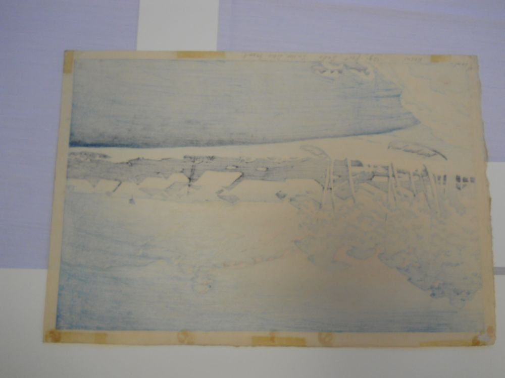 Kawase Hasui (1883-1957), Morning Snow at Ogi Harbor, Sado Island