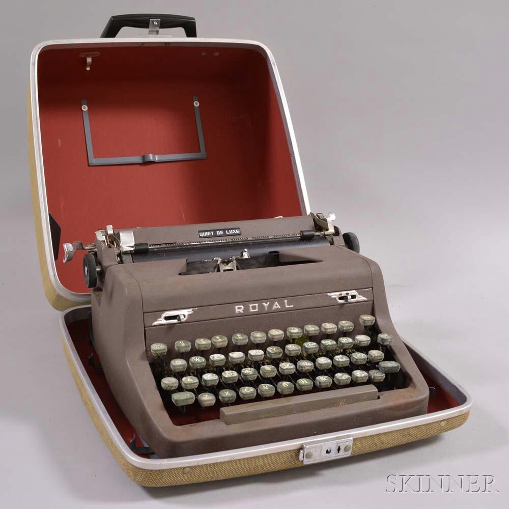 Cased Royal Deluxe Quiet Typewriter.     Estimate $20-200