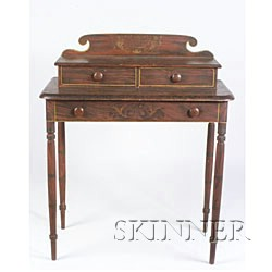 Classical Grain-Painted and Decorated Dressing Table