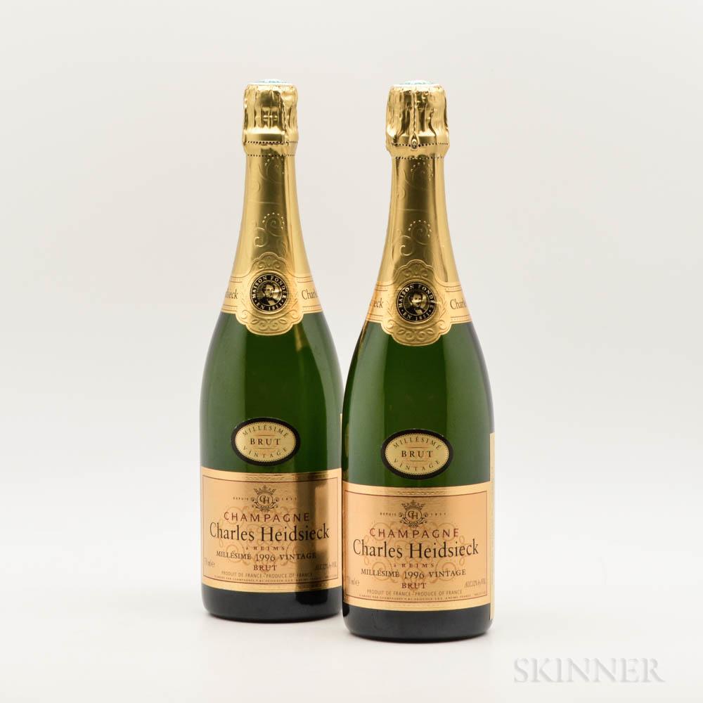 Piper Heidsieck Brut 1996, 2 bottles