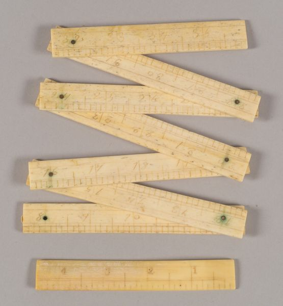 Two Carved and Engraved Whalebone Rulers