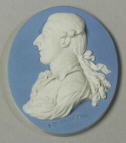 Wedgwood Light Blue Jasper Dip Portrait Medallion of Sir William Hamilton