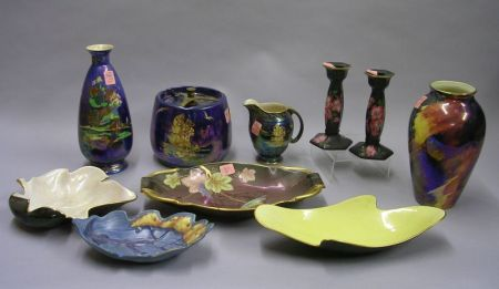 Ten Assorted British Art Pottery Table Items