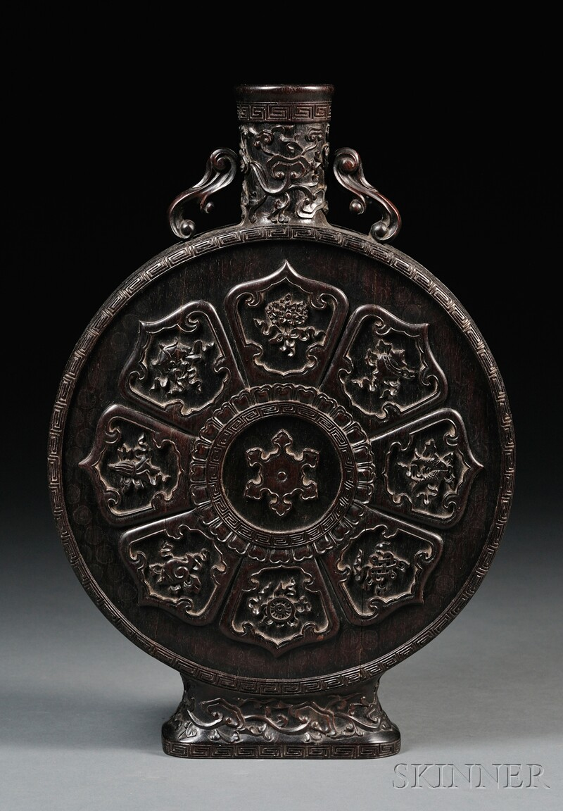 Carved Wood Flask