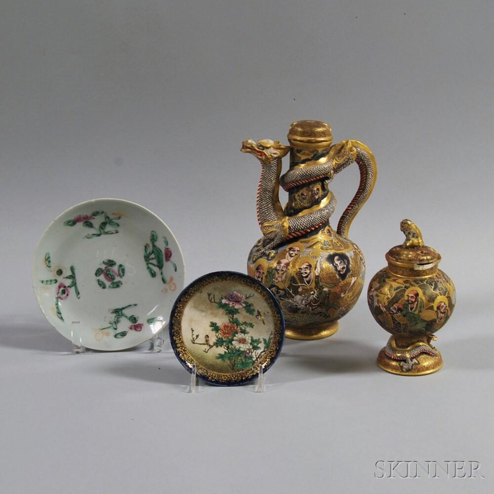 Four Asian Ceramic Items