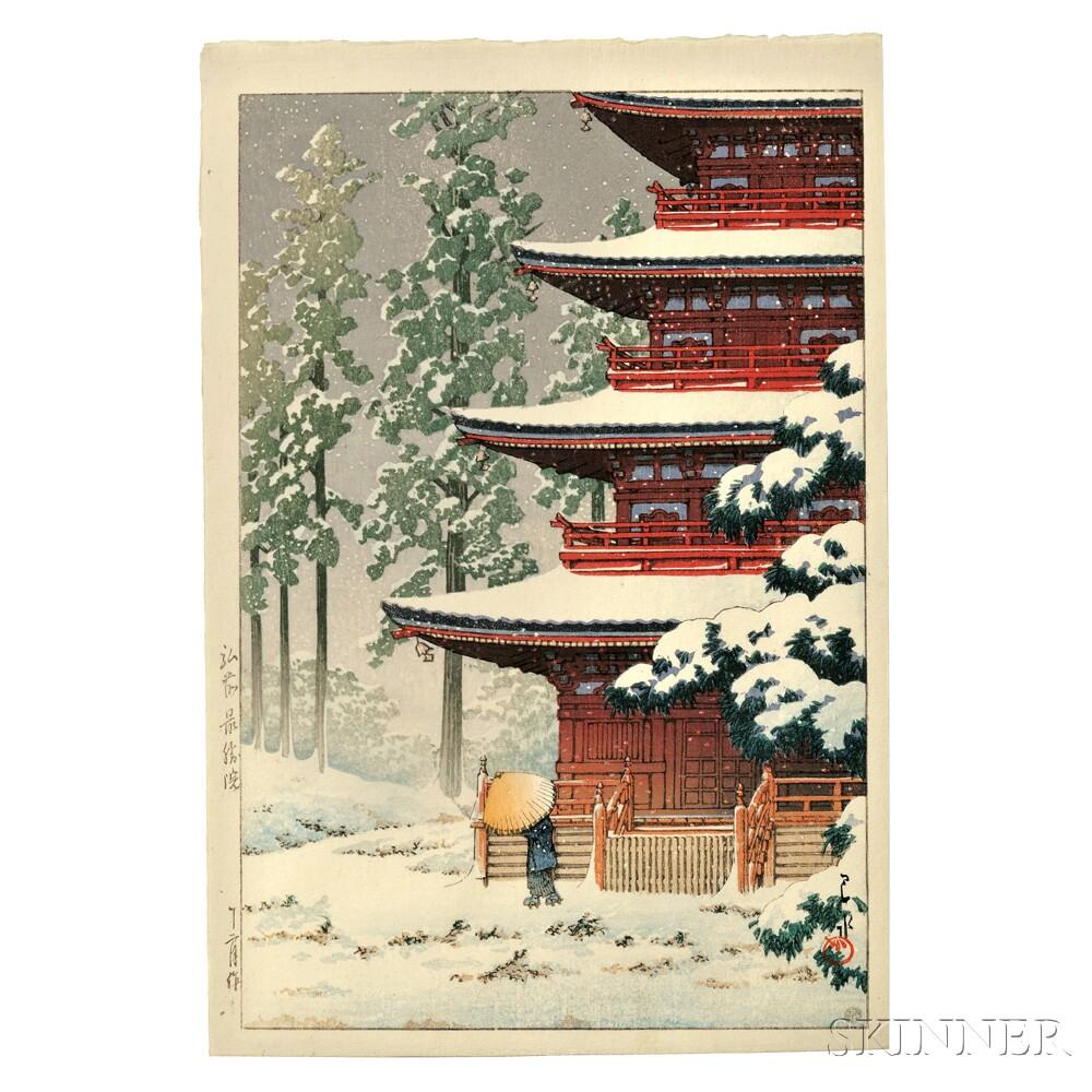 Kawase Hasui (1883-1957), Saishoin Temple in Hirosaki